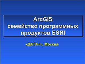 ArcGIS - семейство программных продуктов ESRI. 2008 год