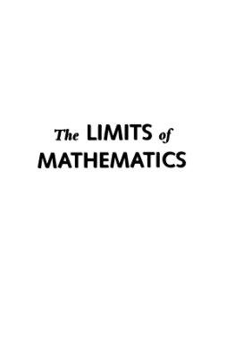 Chaitin G.J. The Limits of Mathematics