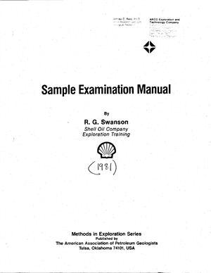 Руководство по описанию образцов керна: Sample Examination Manual, by R.G. Swanson