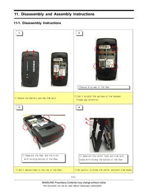 Инструкция по разборке (сборке) телефона Samsung D-880