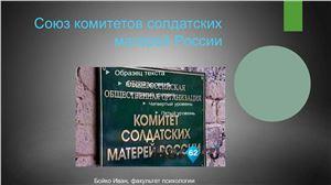 НПО Комитет солдатских матерей, презентация