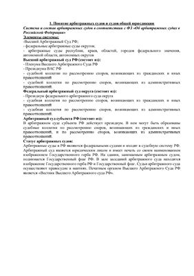 Шпаргалки по дисциплине Основы гражданских и арбитражных процессов