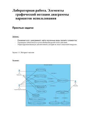Элементы графической нотации диаграммы вариантов использования