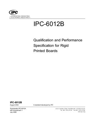 IPC-6012B-2004 Qualification and Performance Specification for Rigid Printed Boards