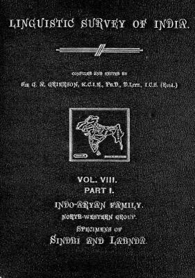 Grierson, George. Lingvistic survey of India, v.8 p.1