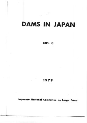 Japanese National Committee on Large Dams. Dams in Japan, No. 8