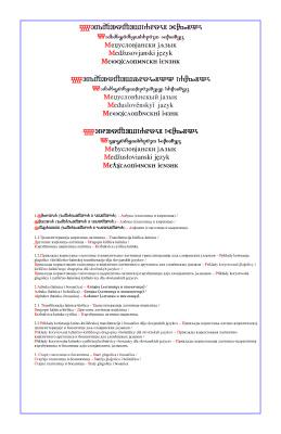 Междуславянский язык. Таблицы азбук и транслитерации