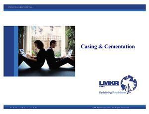 Реферат - Casing and cementation