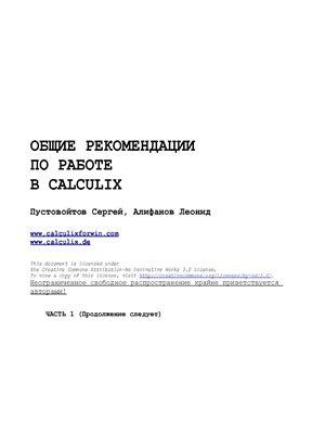 Пустовойтов С., Алифанов Л. Общие рекомендации по работе в Calculix