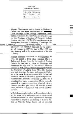 Abercrombie M., Hickman M., Johnson M.L., Thain M. The new Penguin Dictionary of biology