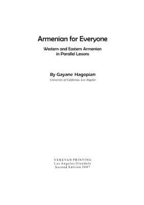 Hagopian G. Armenian for Everyone; West and East Armenian in Parallel Lessons
