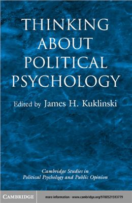Kuklinski James H. Thinking about Political Psychology