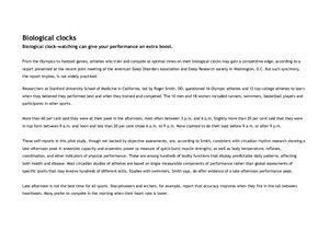 Roger Smith - Biological clocks