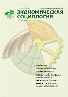 Экономическая социология 2010 №05