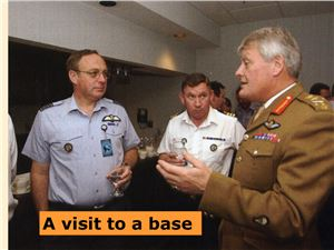 A visit to a military base