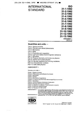 ISO 31-4: 1992 Quantities and units - Part 4 - Heat