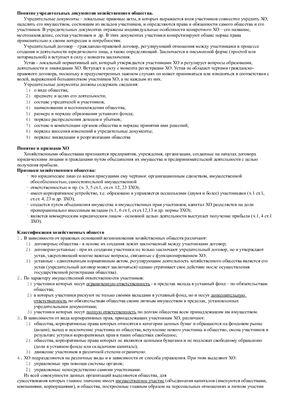 Шпоры по Корпоративному праву Украины