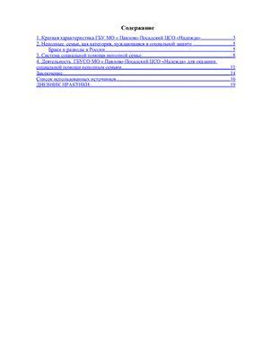 Отчёт по практике по социальной работе