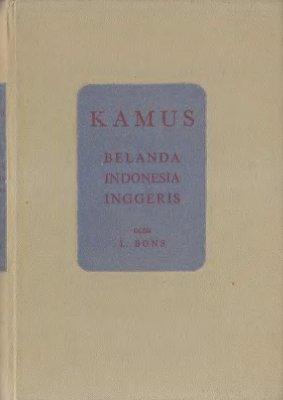 Bons L. Kamus Belanda-Indonesia-Inggeris