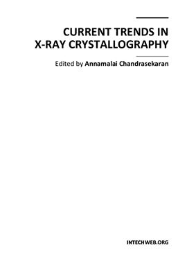 Chandrasekaran A. (ed.) Current Trends in X-Ray Crystallography