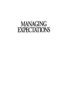 Karten Naomi. Managing Expectations