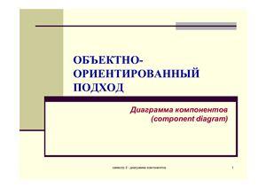 Объектно-ориентированный подход. Диаграмма компонентов (Component diagram)
