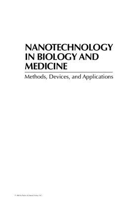 Tuan Vo-Dinh. Nanotechnology in Biology and Medicine. Methods, Devices, and Applications