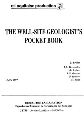Boehm C. The well-site geologist's pocket book