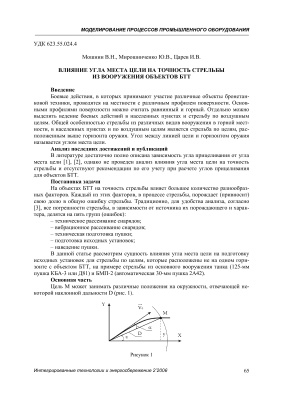 Мошнин В.Н., Мирошниченко Ю.В., Царев И.В. Влияние угла места цели на точность стрельбы из вооружения объектов БТТ