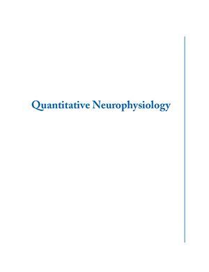 Tranquillo J. Quantitative Neurophysiology