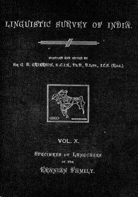 Grierson, George. Lingvistic survey of India, v.10