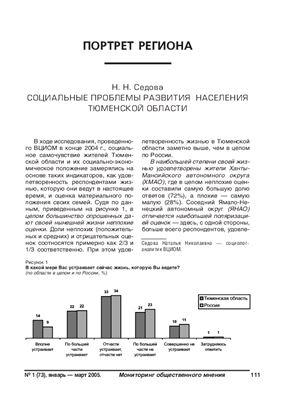 Мониторинг общественного мнения: экономические и социальные перемены 2005 №01 (73)