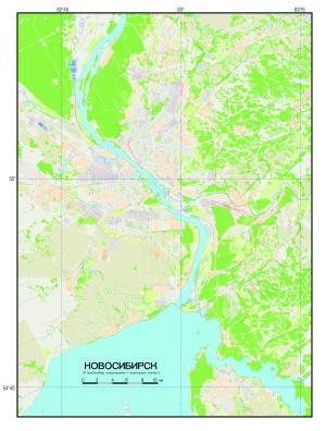 Новосибирск (в графическом векторном файле)