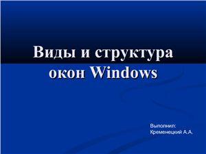 Окна Windows: виды и элементы