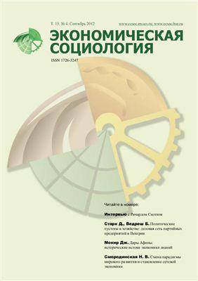 Экономическая социология 2012 №04