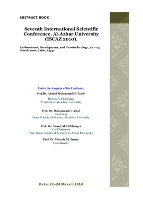Seventh International Scientific Conference (ISCAZ 2010). Abstract book