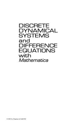 Kulenovic M.R., Merino O. Discrete Dynamical Systems and Difference Equations with Mathematica