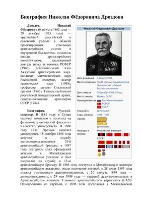 Биография Дроздова Николая Фёдоровича