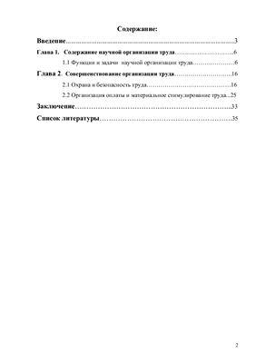 Организация труда в социальных учреждениях и её совершенствование