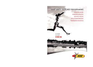 Руководство для спортсменов по Антидопинговой программе ИААФ