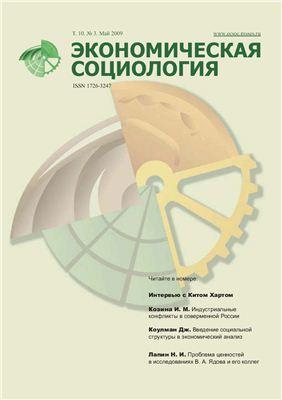 Экономическая социология 2009 №03