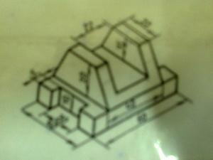 Задачи на построение проекций детали и изометрия детали