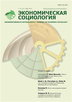 Экономическая социология 2015 №02