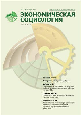 Экономическая социология 2011 №02