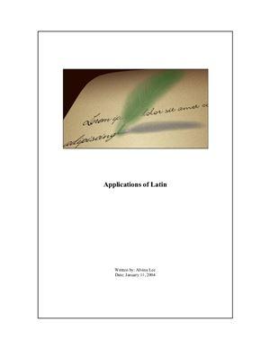 Lee Alvina. Applications of Latin