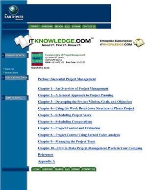 Lewis James P. Fundamentals of Project Management