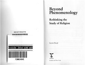Flood Gavin. Beyond Phenomenology: Rethinking the Study of Religion