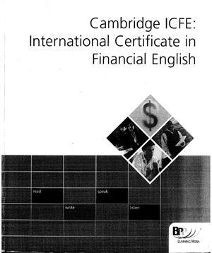 Cambridge ICFE International Certificate in Financial English: Workbook