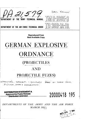 Справочник - Немецкие боеприпасы. Снаряды и взрыватели. German explosive ordnance. Projectiles, projectile fuzes. ТМ 9-1985 - 3