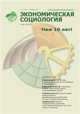 Экономическая социология 2010 №04